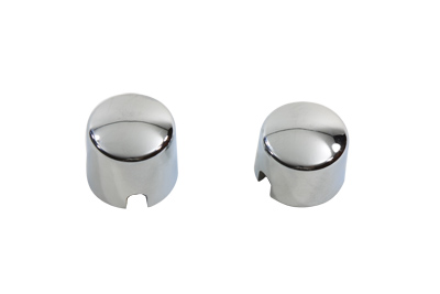 V-Twin 37-0041 - Chrome Rear Axle Nut Cover Set