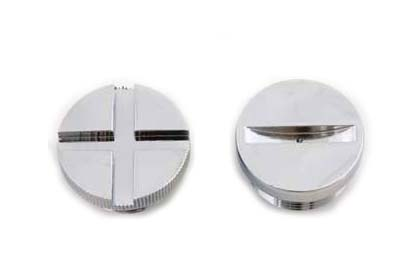 V-Twin 37-0050 - Primary Cover Cap Set Chrome