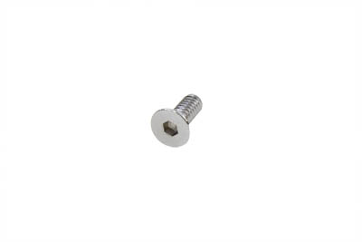 V-Twin 37-0108 - Allen Flat Head Screws Chrome 1/4 x 1""