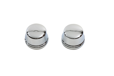 V-Twin 37-0380 - Chrome Front Axle Cap Cover Set Cap Style