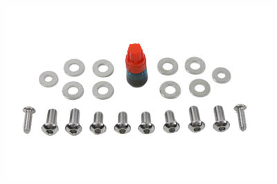 V-Twin 37-0815 - Headlamp Cowl Screw Kit Chrome