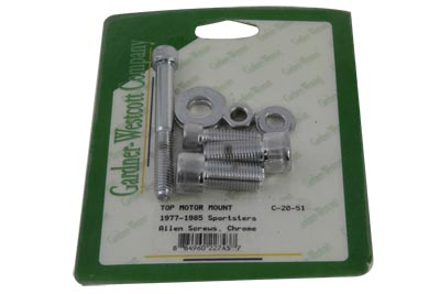 V-Twin 37-0848 - Top Motor Mount Bolt Kit Chrome