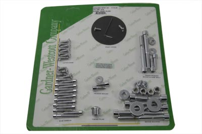 V-Twin 37-7490 - Chrome Allen Head Engine Dress Up Screw Kit
