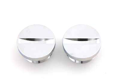 V-Twin 37-7784 - Primary Cover Cap Set Chrome