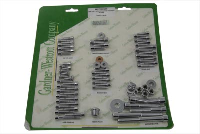 V-Twin 37-8085 - Engine Dress Up Screw Kit Allen Chrome