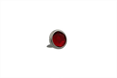"V-Twin 37-8850 - 5/8"" Red Jewel Saddlebag Spots Nickel"