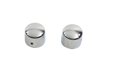 V-Twin 37-8918 - Chrome Front Axle Cap Cover Set Cap Style