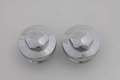 V-Twin 37-8989 - Primary Cover Cap Set Chrome