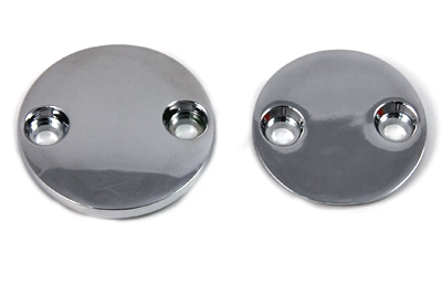 V-Twin 37-8992 - Primary Cover Chrome Inspection Cover Set