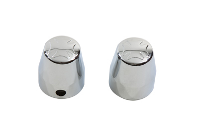 V-Twin 37-9007 - Chrome Rear Axle Nut Caps Maltese Style