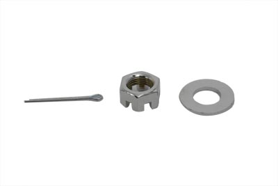 V-Twin 37-9032 - Chrome Axle Nut Kit Castle Style 5/8 - 18 UNF
