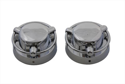 V-Twin 38-0301 - Satellite Style Gas Cap Cover Set