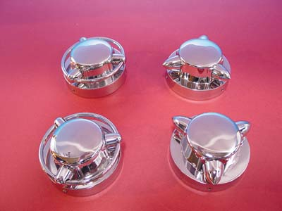 V-Twin 38-0303 - Krommet Gas Cap Cover Set