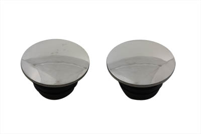 V-Twin 38-0328 - Polished Low Profile Gas Cap Set