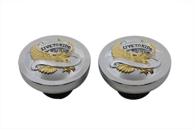 V-Twin 38-0354 - Eagle Spirit Vented and Non-Vented Cap Set