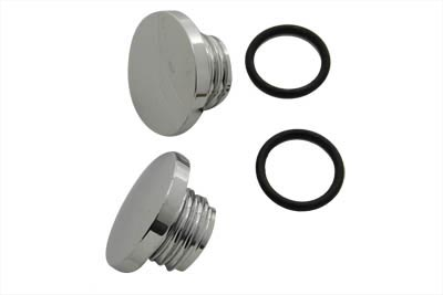 V-Twin 38-0359 - Medium Style Billet Gas Cap Set Vented and Non-