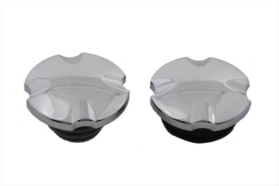 V-Twin 38-0366 - Maltese Cross Vented and Non-Vented Gas Cap Set