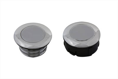 V-Twin 38-0404 - Smooth Style Gas Cap Set Non-Vented