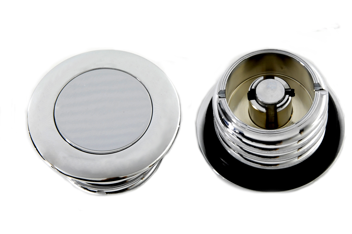 V-Twin 38-0411 - Smooth Style Pop-Up Gas Cap Set Vented and Non-