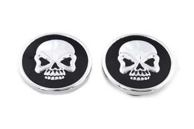 V-Twin 38-0436 - Skull Style Pop-Up Gas Cap Set Vented and Non-V