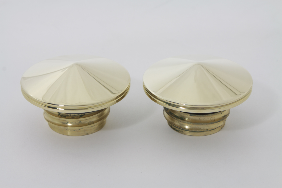 V-Twin 38-0443 - Brass Gas Cap Set