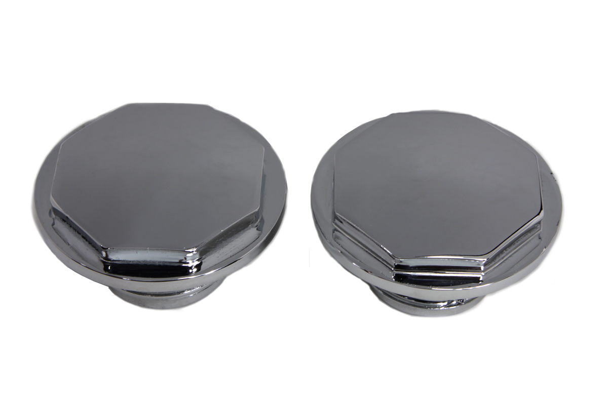 V-Twin 38-0446 - Chrome Button Head Hexagon Vented and Non-Vente