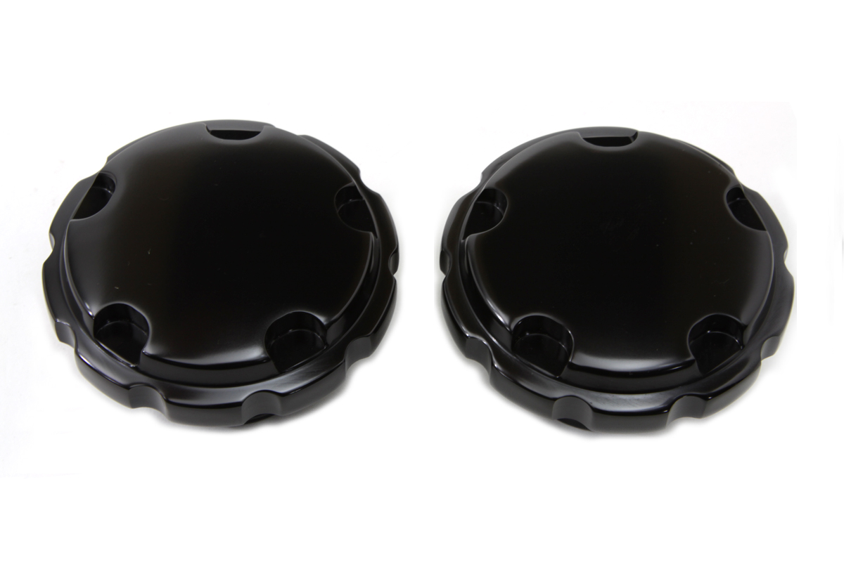 V-Twin 38-0462 - Black Techno Style Vented and Non-Vented Gas Ca