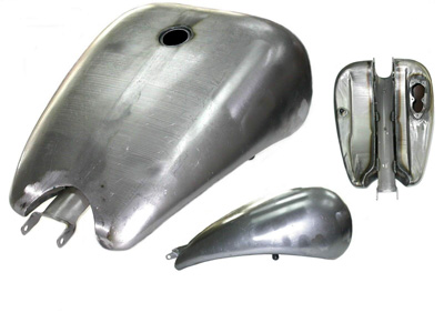 "V-Twin 38-0930 - 2"" Stretched 4 Gallon EFI Gas Tank"