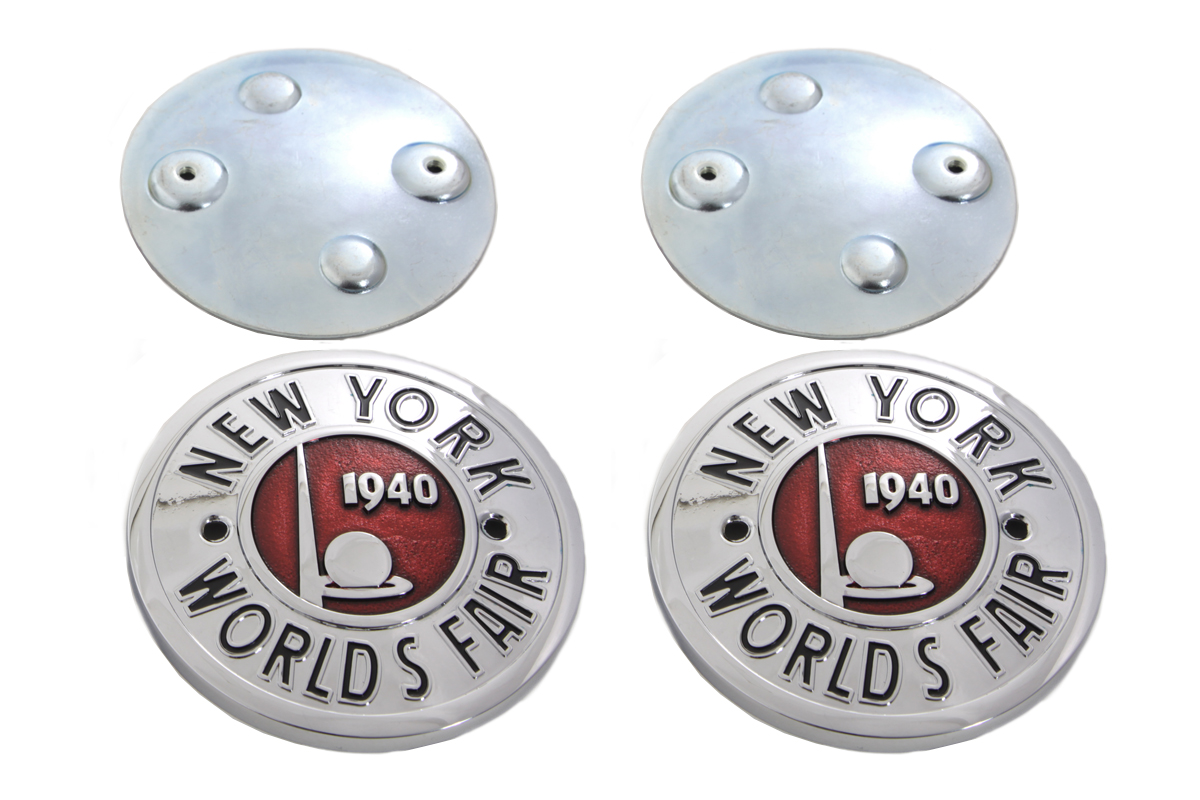 V-Twin 38-0937 - World's Fair Tank Emblem Set