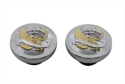 V-Twin 38-7002 - Live to Ride Gas Cap Set Vented and Non-Vented