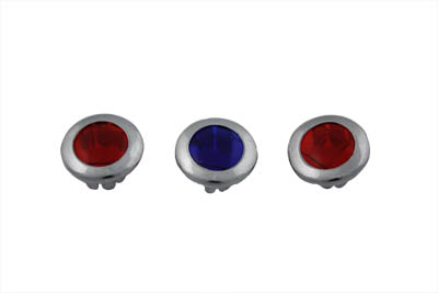 V-Twin 39-0114 - Three Light Dash Panel Lens Set