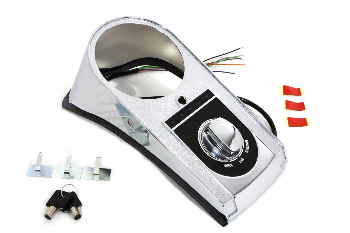V-Twin 39-0219 - LED Dash Cover Chrome