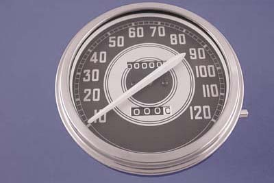 V-Twin 39-0299 - Speedometer with 2:1 Ratio and White Needle