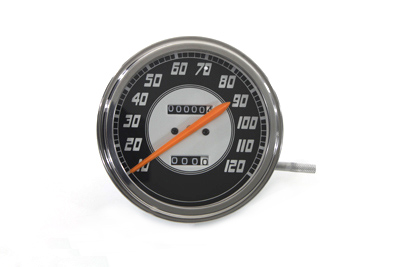 V-Twin 39-0300 - Speedometer with 2:1 Ratio and Orange Needle