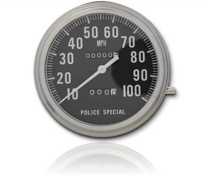 V-Twin 39-0303 - Police Special Speedometer with 1:1 Ratio