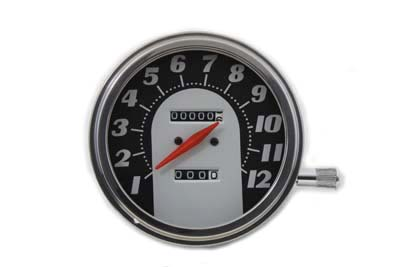 V-Twin 39-0306 - Tombstone Style Speedometer with 1:1 Ratio