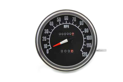 V-Twin 39-0307 - Fat Bob Speedometer with 1:1 Ratio