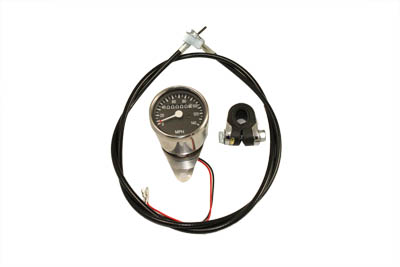 V-Twin 39-0316 - Mini 60mm Speedometer Kit with 1:1 Ratio
