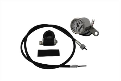 V-Twin 39-0368 - Deco Mini 48mm Speedometer Kit with 2:1 Ratio