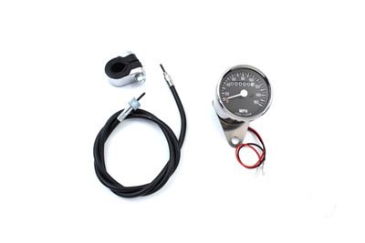 V-Twin 39-0371 - Mini 60mm Speedometer Kit with 2240:60 Ratio
