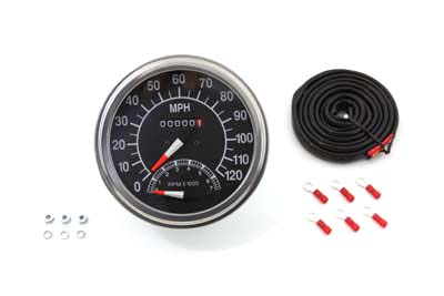 V-Twin 39-0380 - Speedometer with 2240:60 Ratio and Tachometer