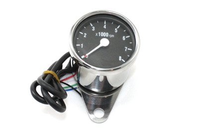 V-Twin 39-0392 - Mini 60mm Electronic Tachometer