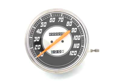 V-Twin 39-0426 - Replica 2:1 Speedometer with Orange Needle