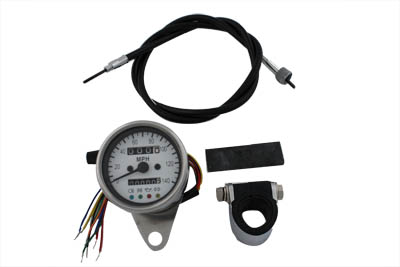 V-Twin 39-0550 - Mini 60mm Speedometer with 2:1 Ratio