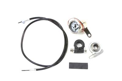V-Twin 39-0554 - Deco Mini 48mm Speedometer Kit with 2:1 Ratio