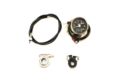 V-Twin 39-0580 - Mini 60mm Speedometer with 2:1 Ratio