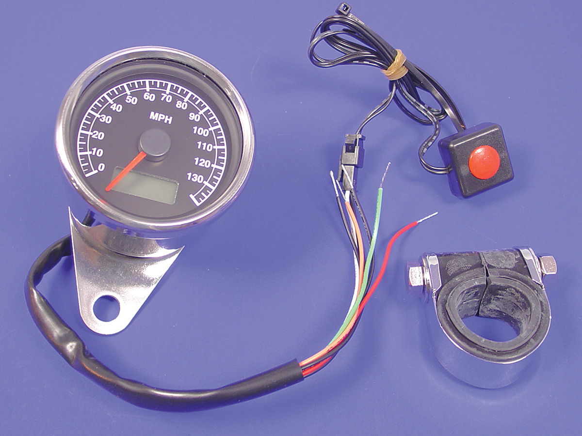 V-Twin 39-0593 - 60mm Mini Electric Speedometer