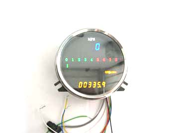 V-Twin 39-0610 - Digital Electronic Speedometer with Tachometer