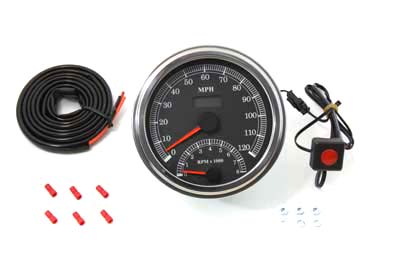 V-Twin 39-0730 - Multi Ratio Speedometer Tachometer Combo
