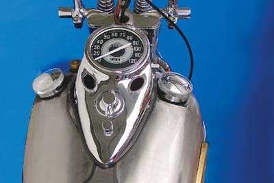 V-Twin 39-0903 - Chrome Cateye Dash Panel Kit with 2:1 Ratio Spe